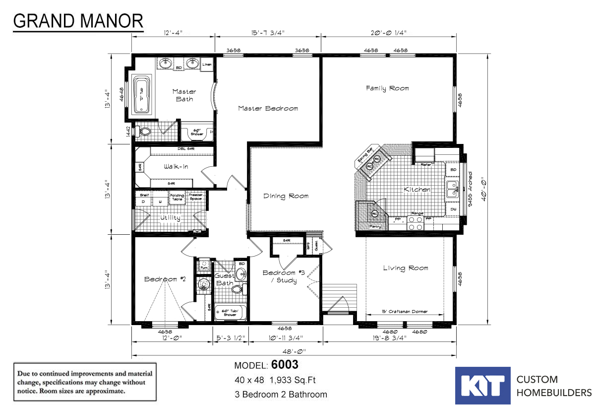 Grand Manor 6003 Layout
