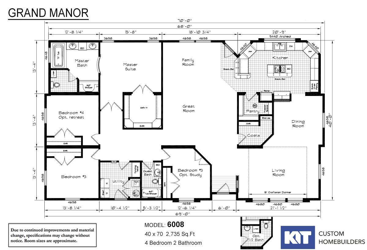 Grand Manor 6008 Layout