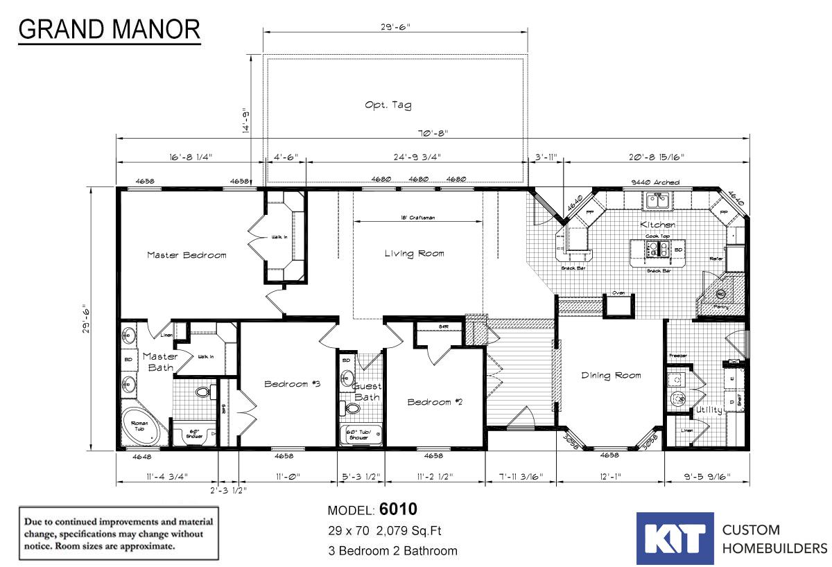 Grand Manor 6010 Layout