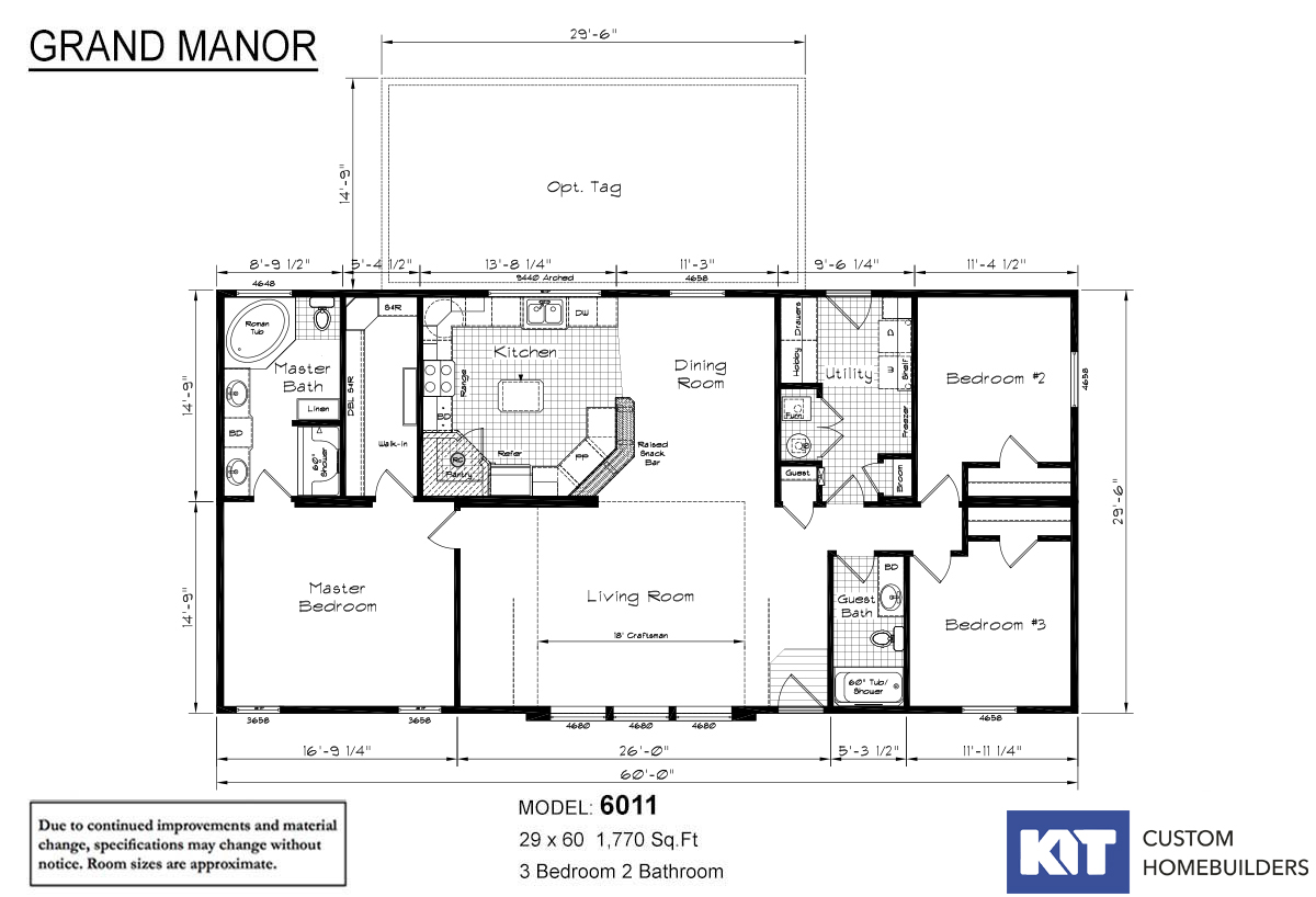 Grand Manor 6011 Layout