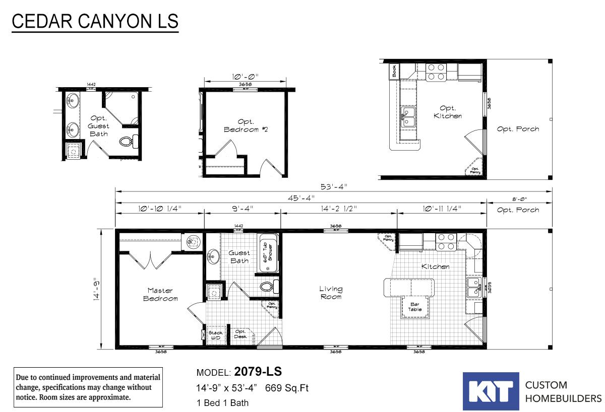Cedar Canyon LS 2079 Layout