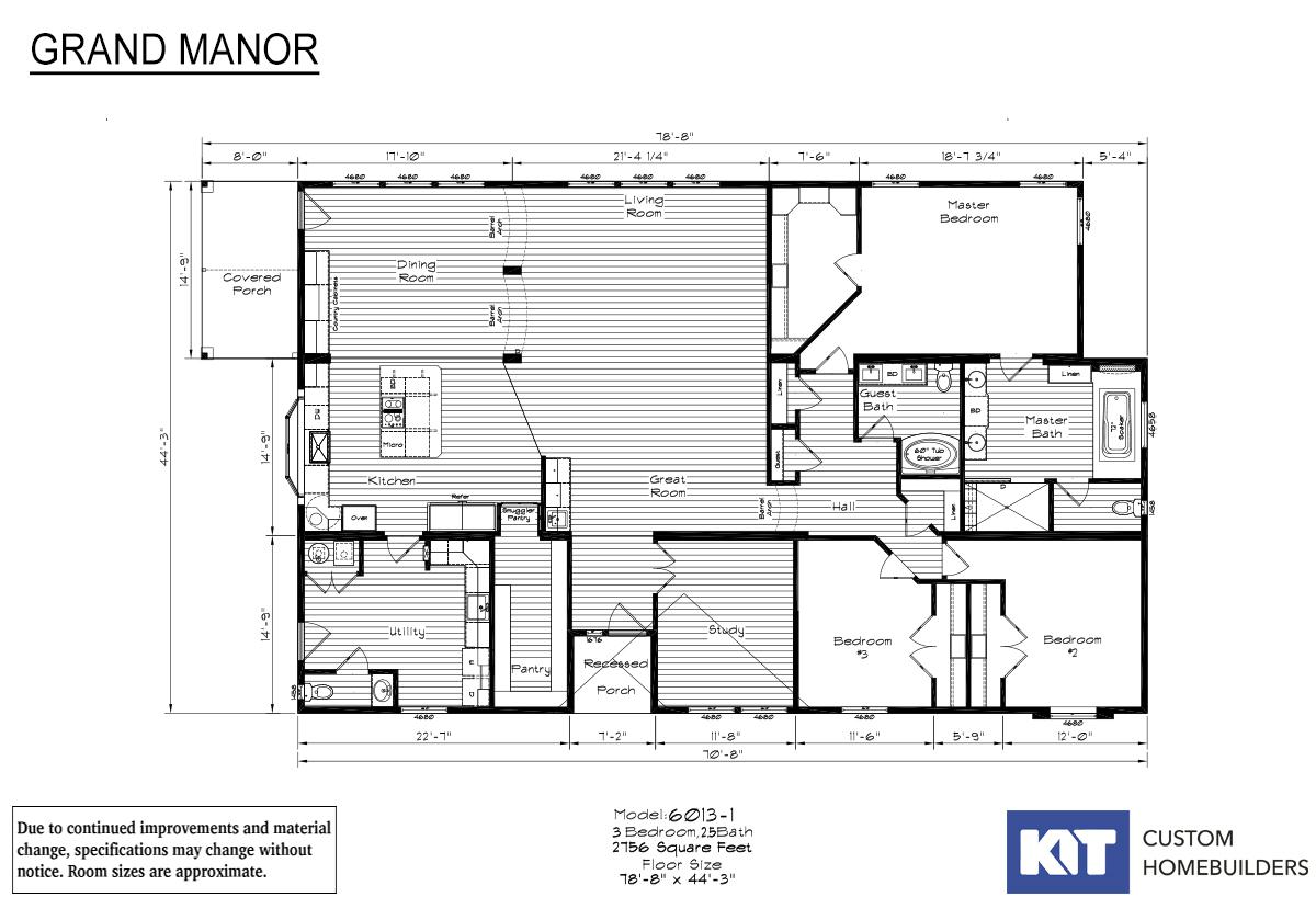 Grand Manor 6013-1C Layout