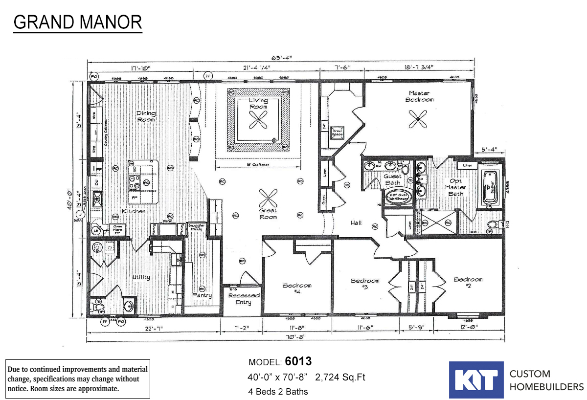 Grand Manor 6013-2 Layout