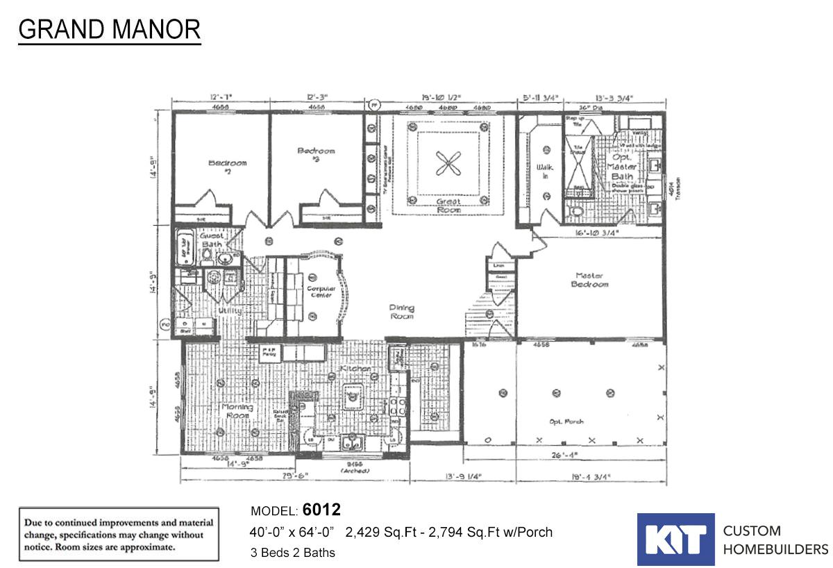 Grand Manor 6012-3 Layout