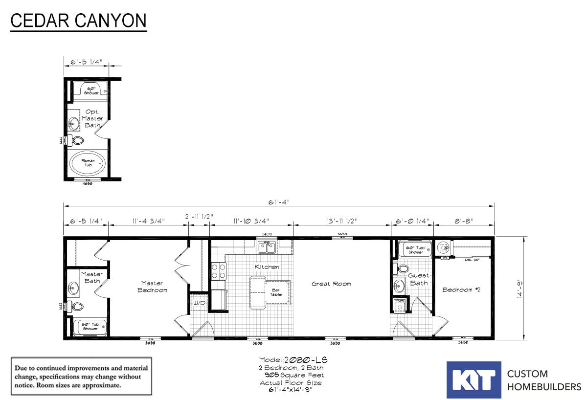 Cedar Canyon LS 2080 Layout