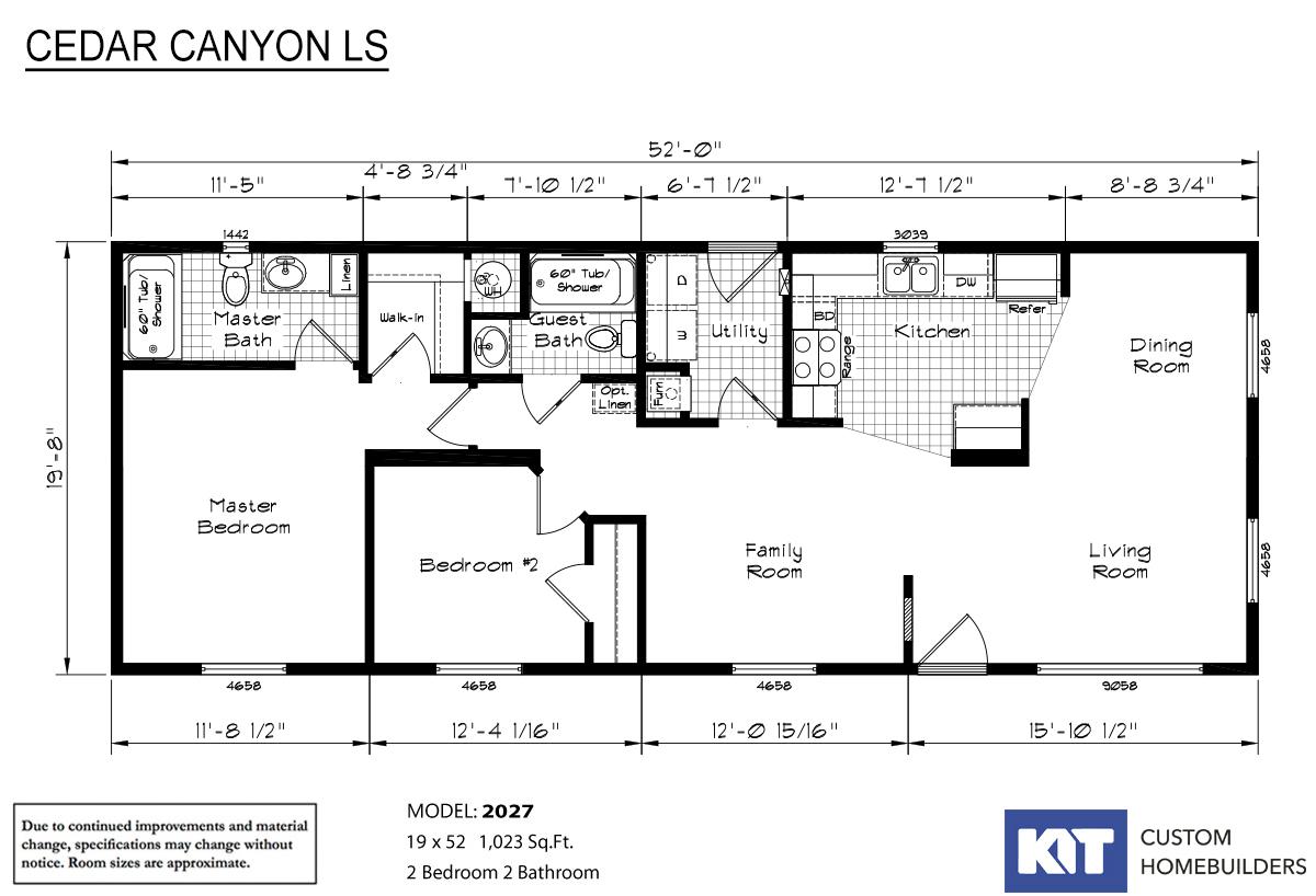 Cedar Canyon LS 2027 Layout