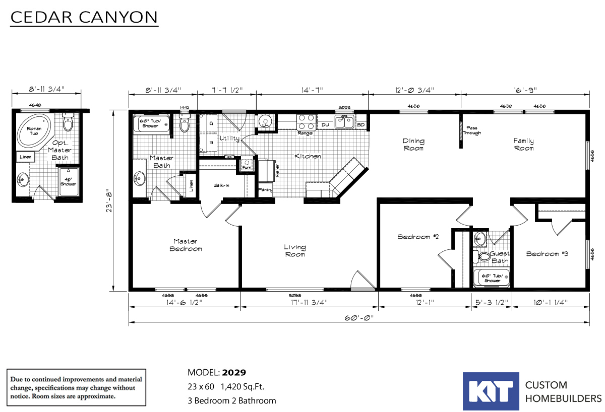 Cedar Canyon 2029 Layout
