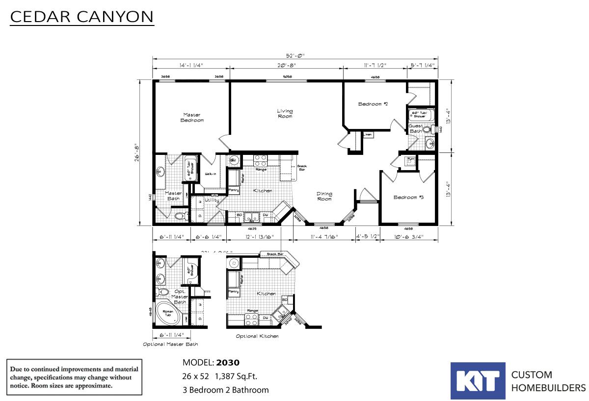 Cedar Canyon 2030 Layout