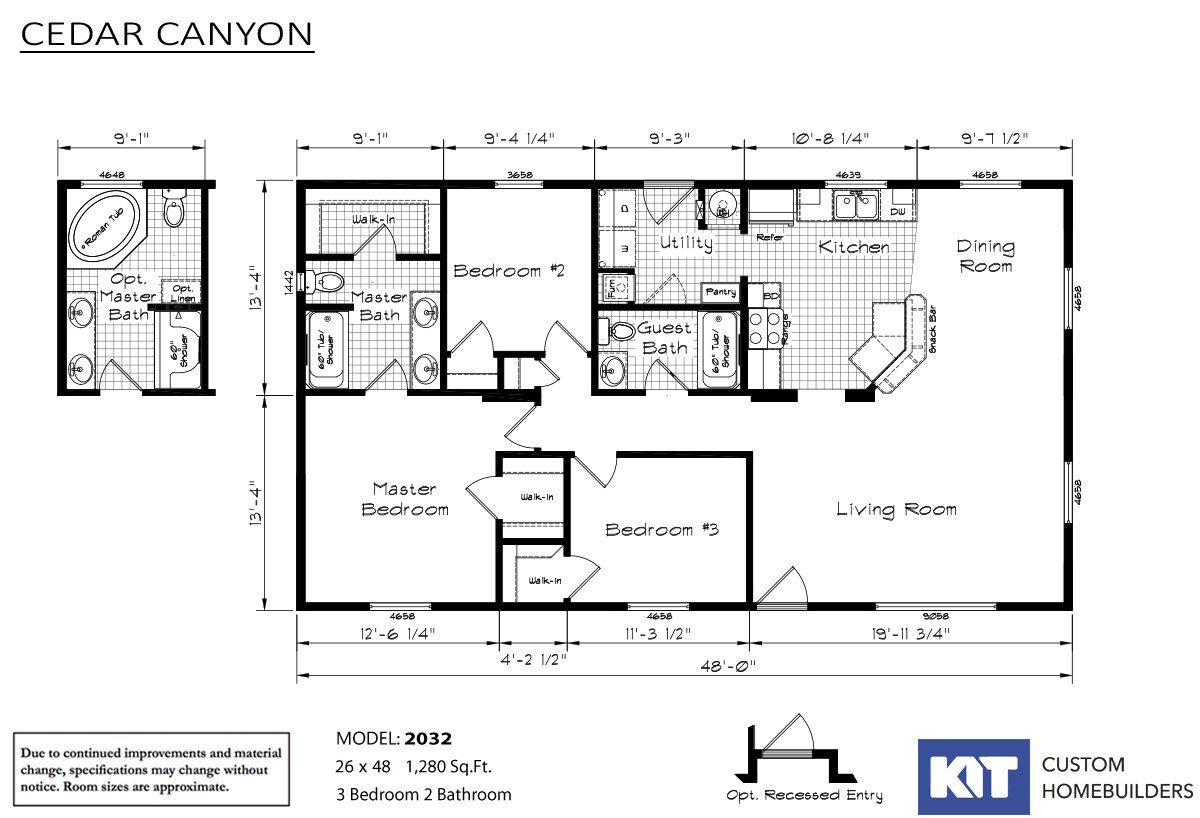 Cedar Canyon 2032 Layout