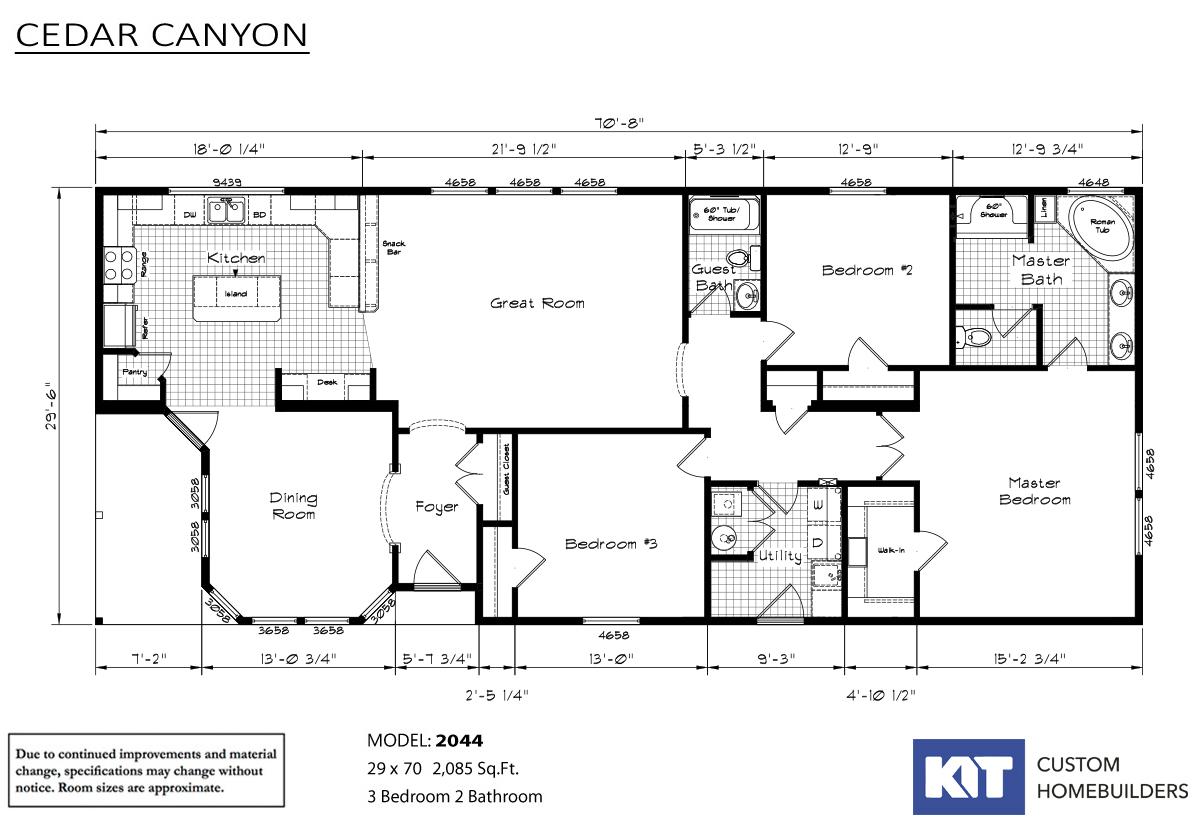 Cedar Canyon 2044 Layout