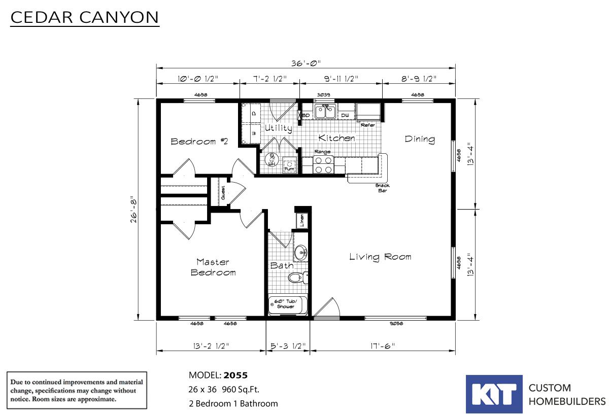 Cedar Canyon 2055 Layout
