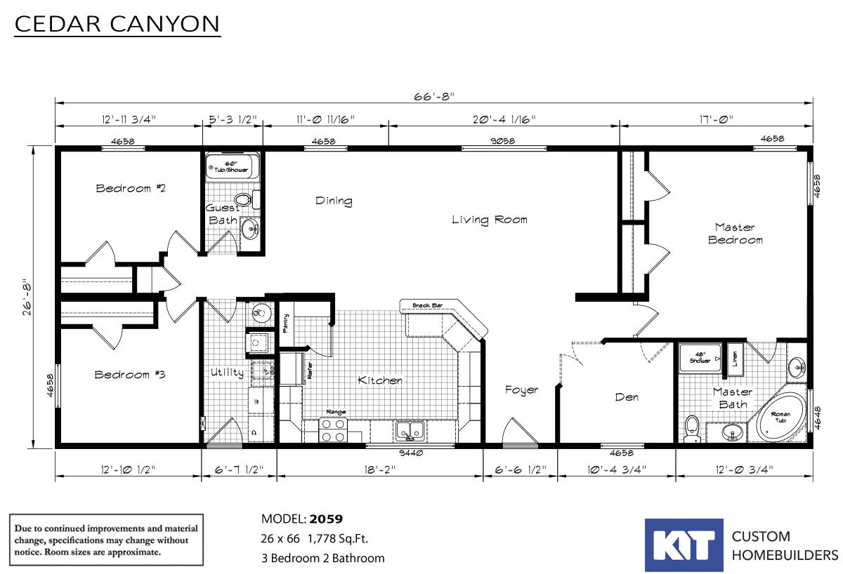 Cedar Canyon 2059 Layout