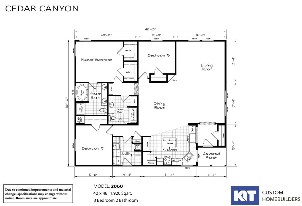 Cedar Canyon 2060 Layout