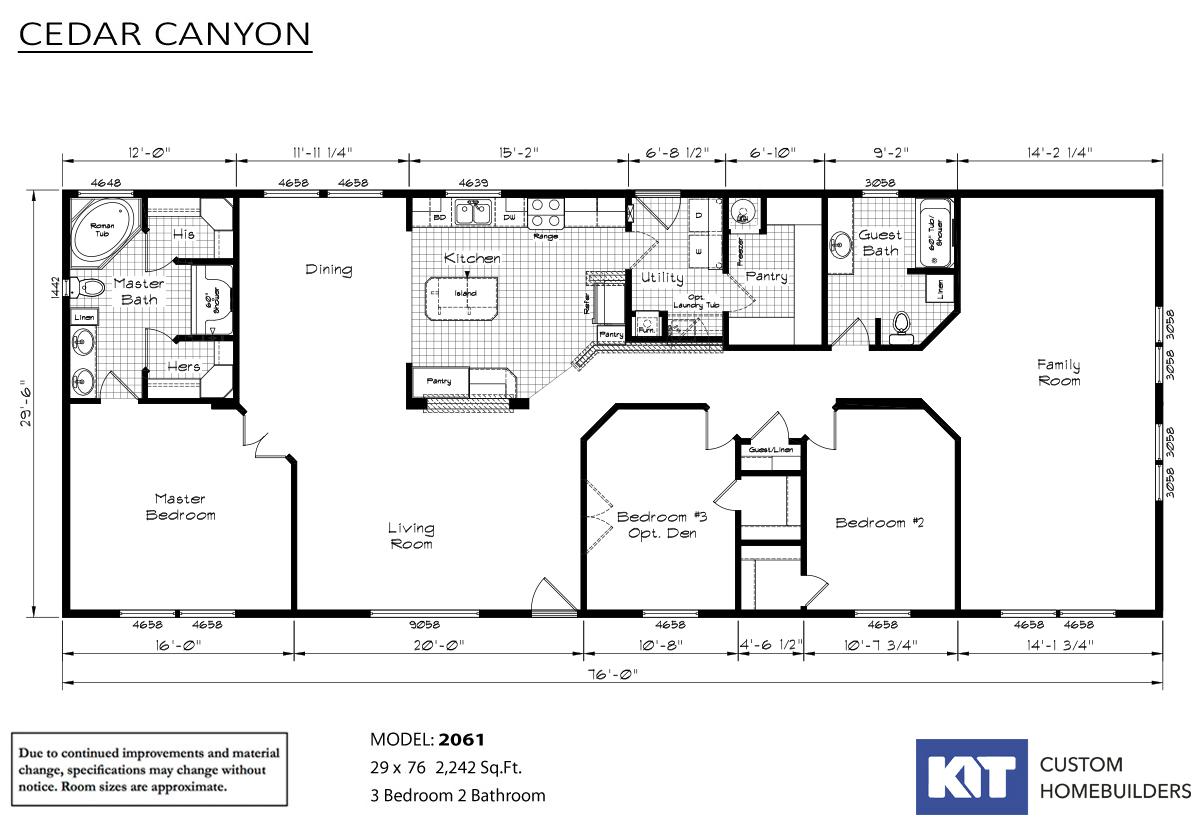 Cedar Canyon 2061 Layout