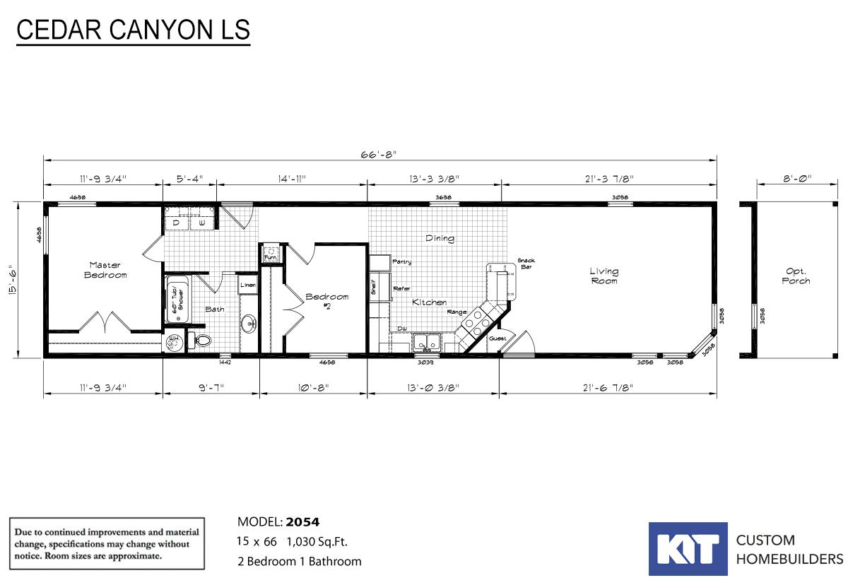 Cedar Canyon LS 2054 Layout