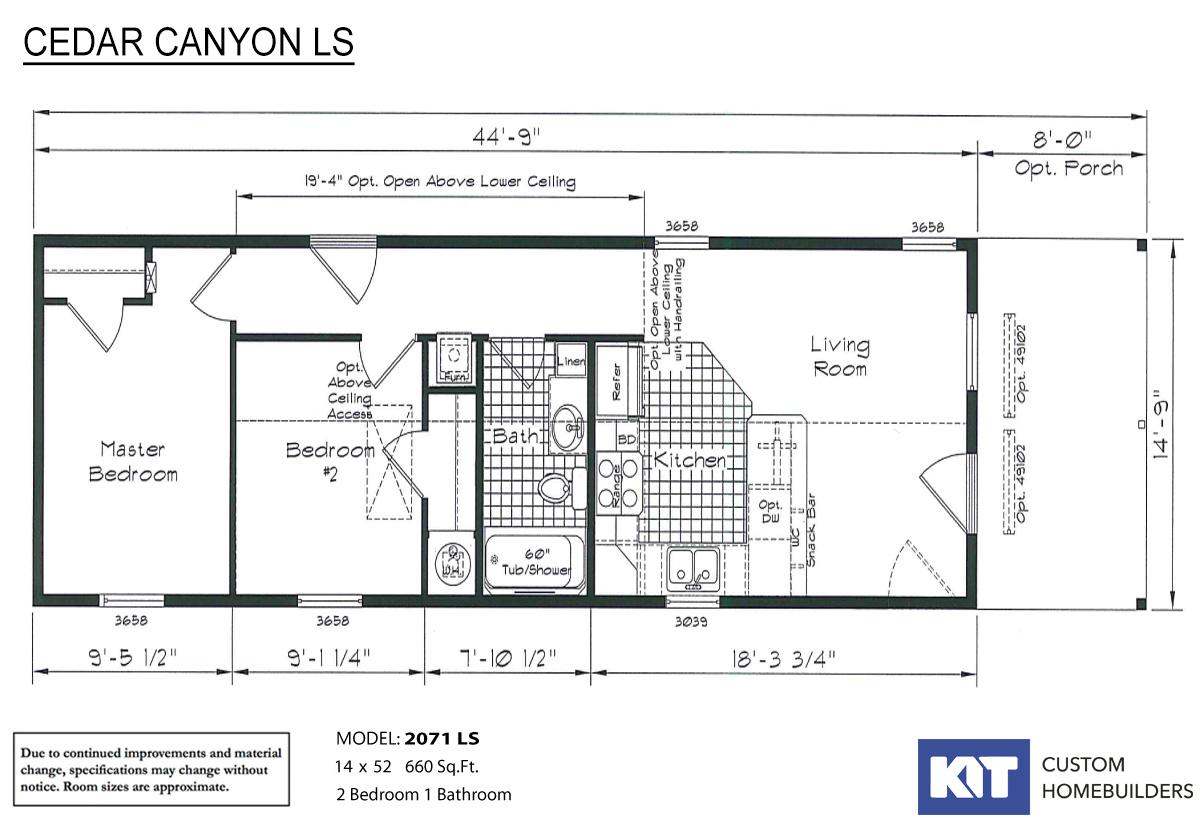 Cedar Canyon LS 2071 Layout