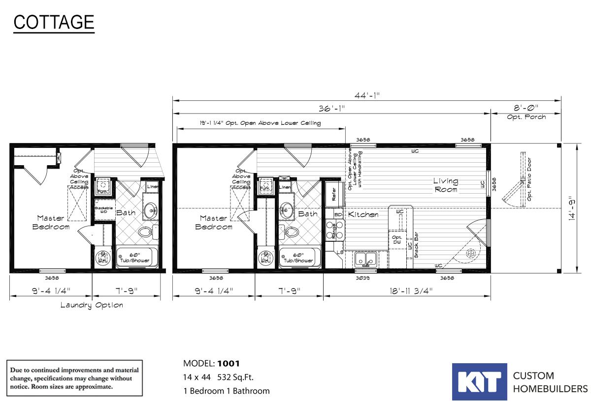 Cottage 1001 Layout