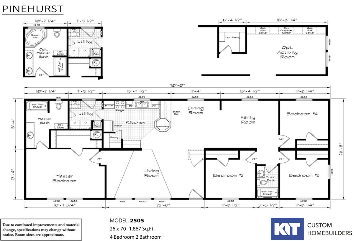 Pinehurst 2505 Layout