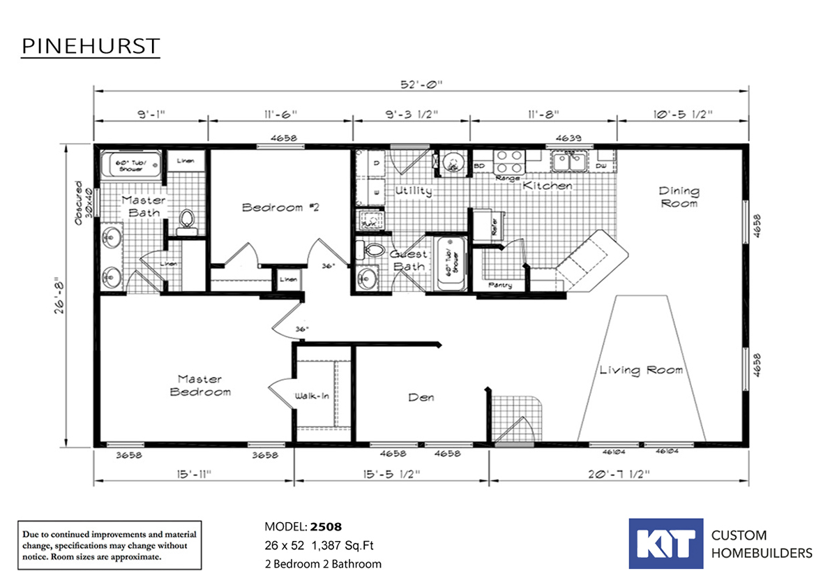 Pinehurst 2508-WHC Layout