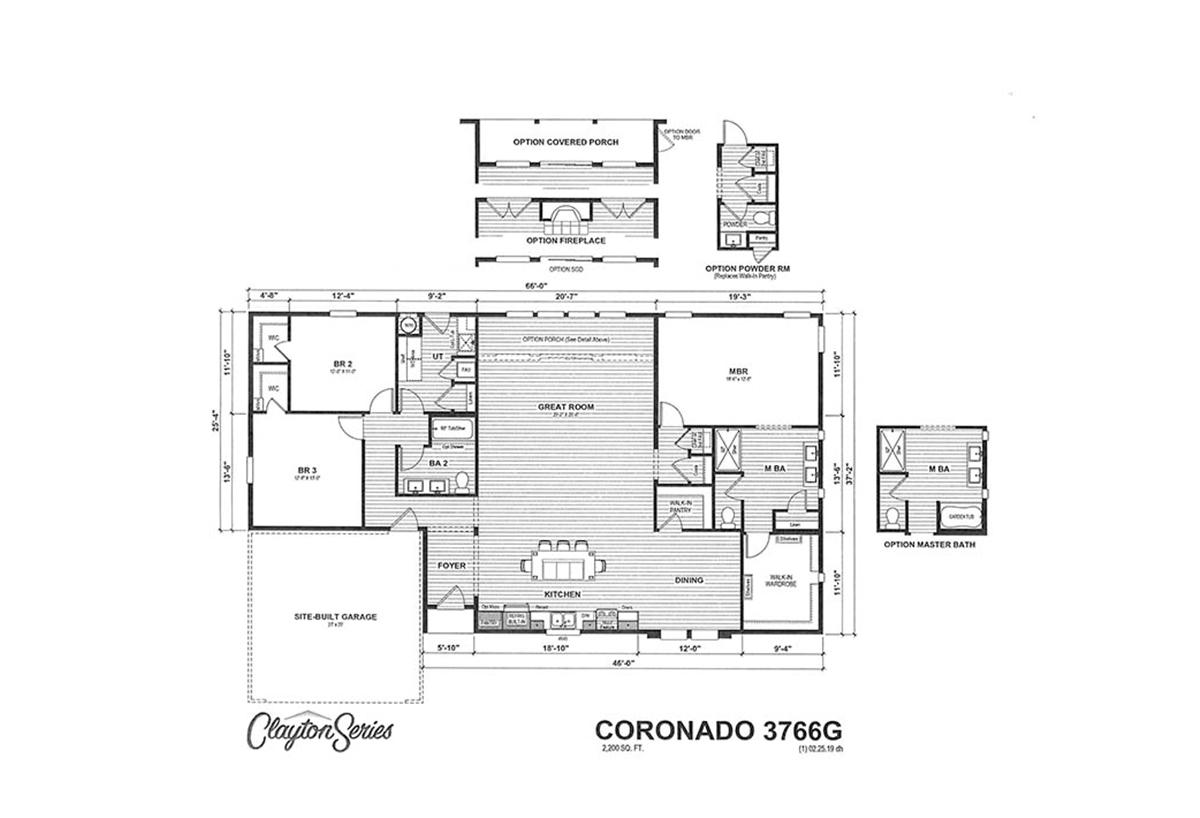 Coronado 3766G Layout