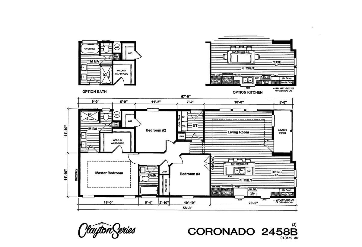 Coronado 2458B Layout