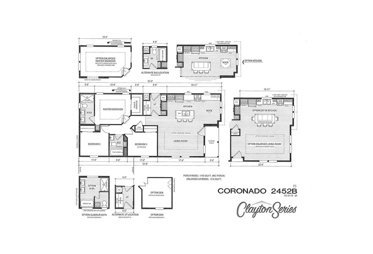 Coronado 2452B Layout