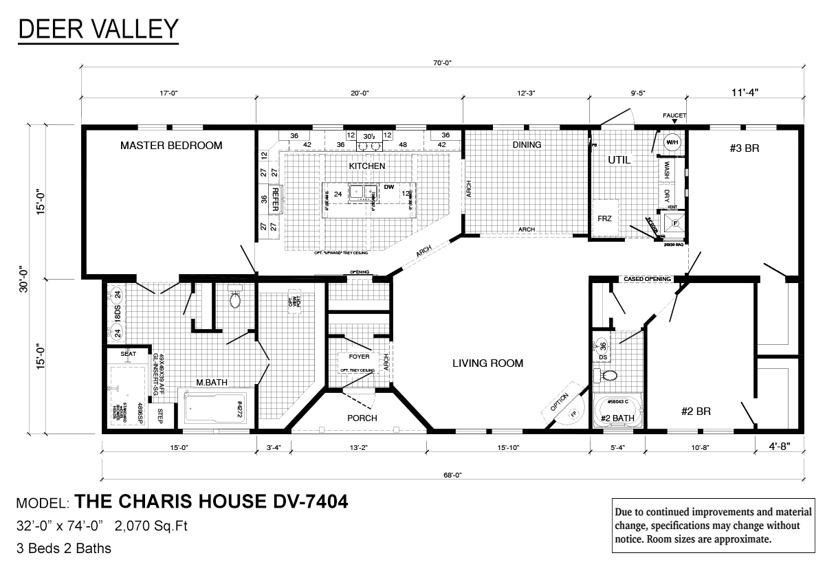 Deer Valley Series Charis House DV-7404 Layout