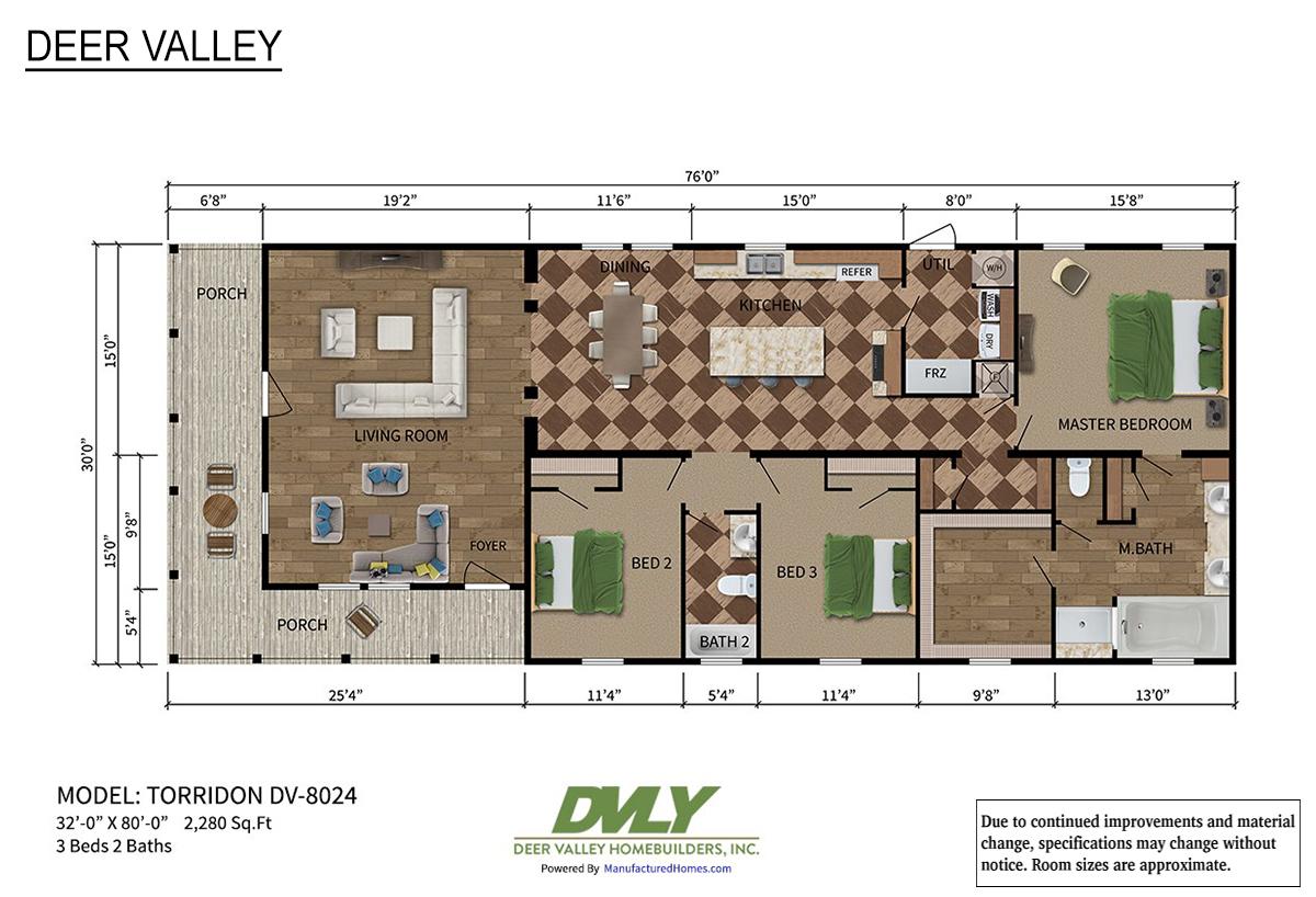 Deer Valley Series Torridon DV-8024 Layout