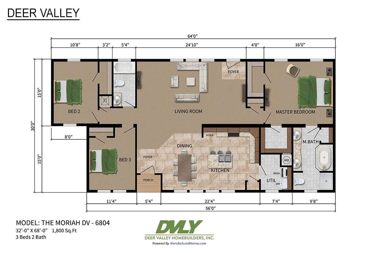 Deer Valley Series Moriah DV-6804 Layout