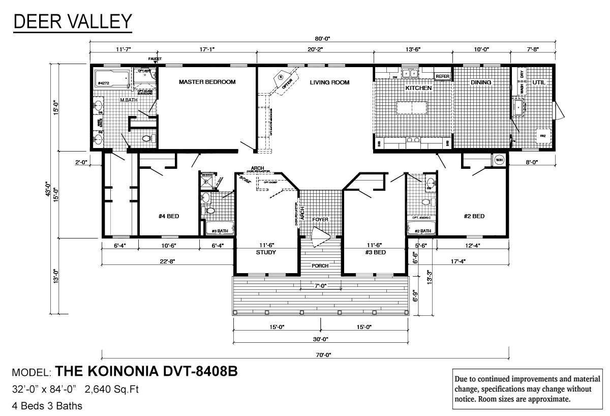 Deer Valley Series Koinonia DVT-8408B Layout