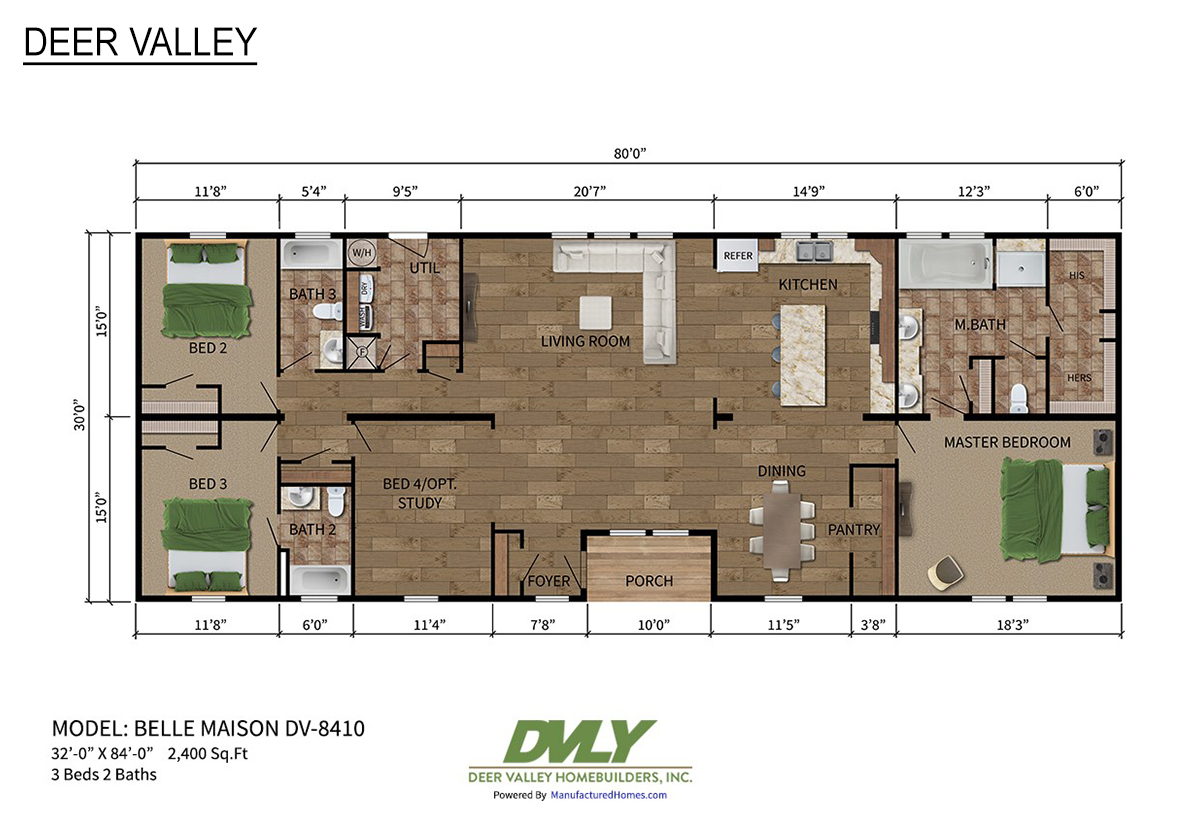 Deer Valley Series Belle Maison DV-8410 Layout