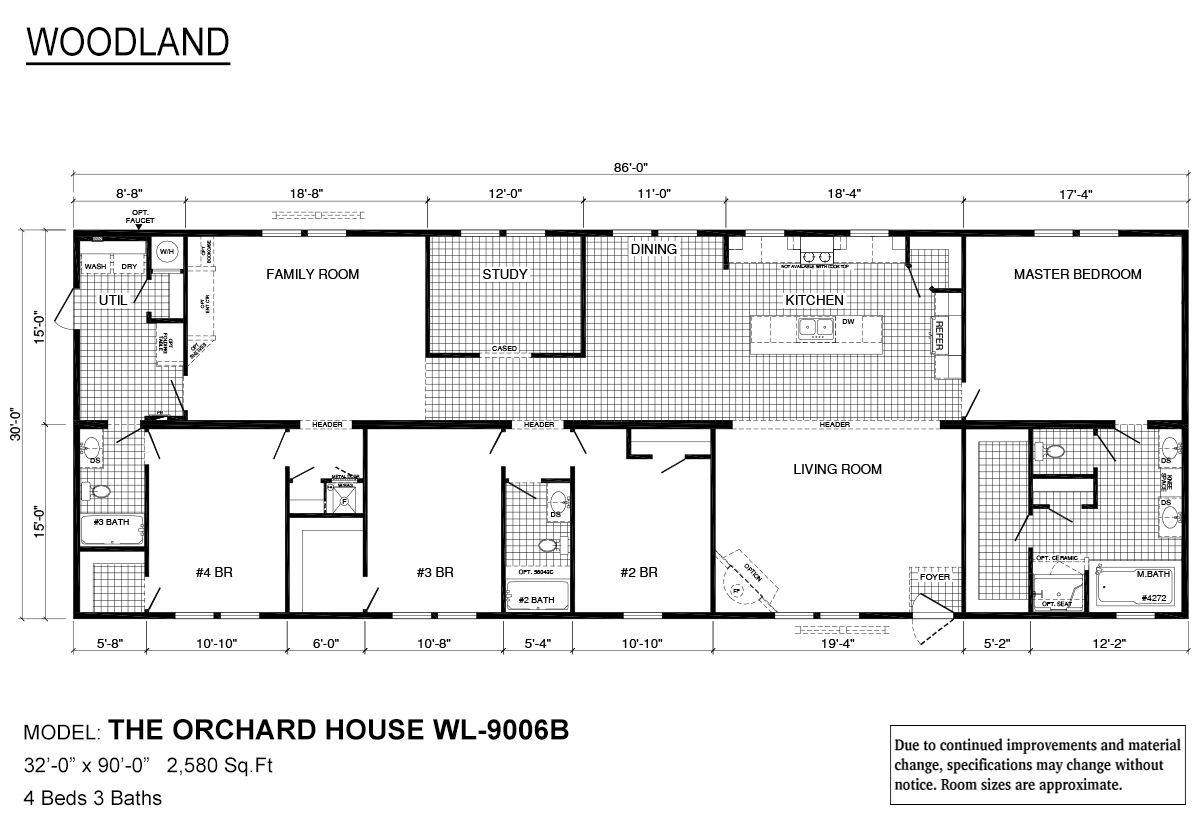 Woodland Series Orchard House WL-9006B Layout