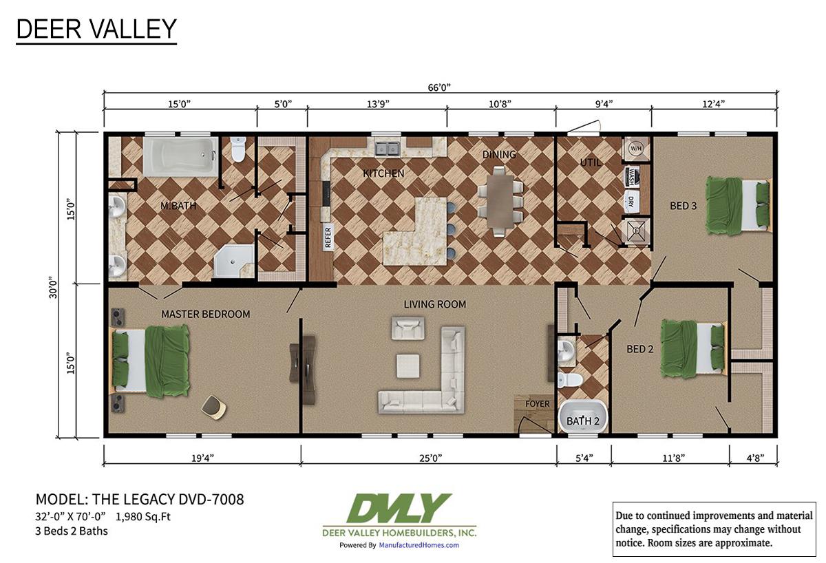 Deer Valley Series The Legacy DVD-7008 Layout