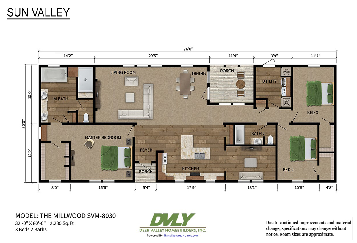 Sun Valley Series The Millwood SVM-8030 Layout