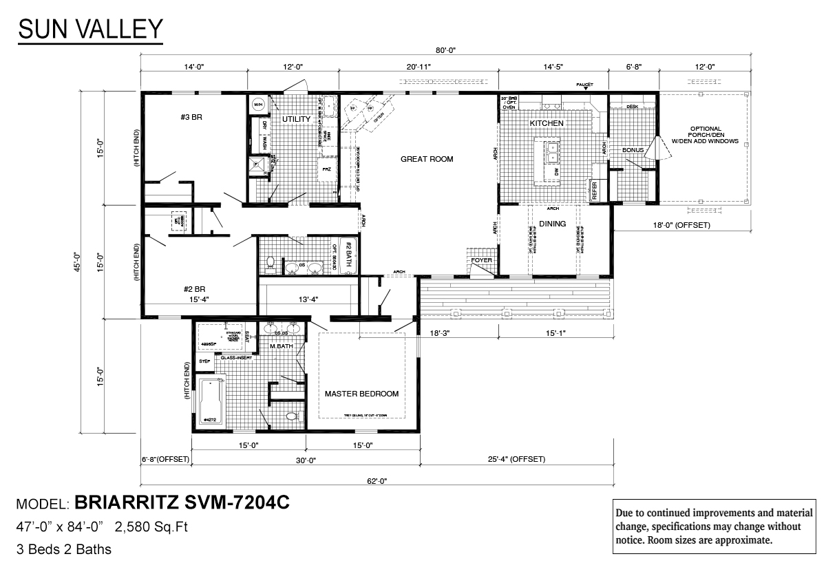 Sun Valley Series Briarritz SVM-7204C Layout