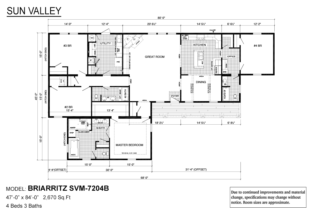 Sun Valley Series Briarritz SVM-7204B Layout
