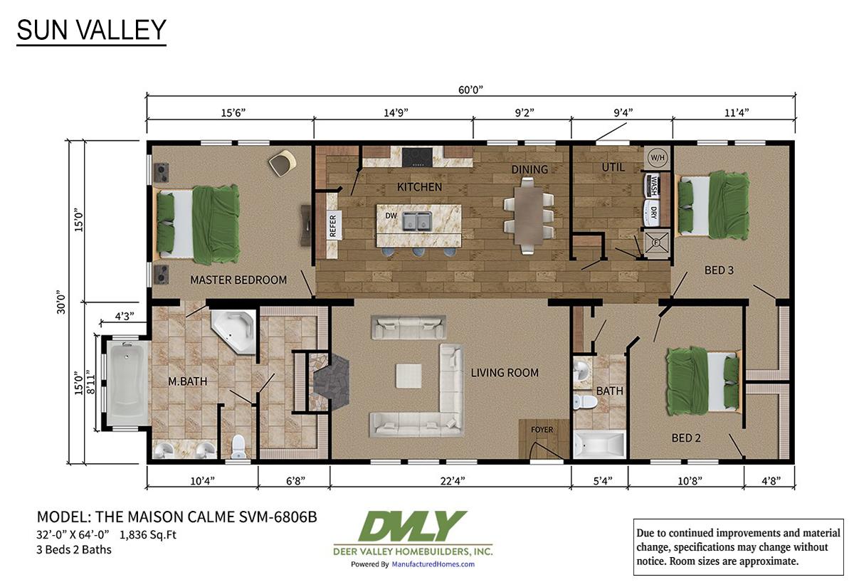 Sun Valley Series Maison Calme SVM-6806B Layout