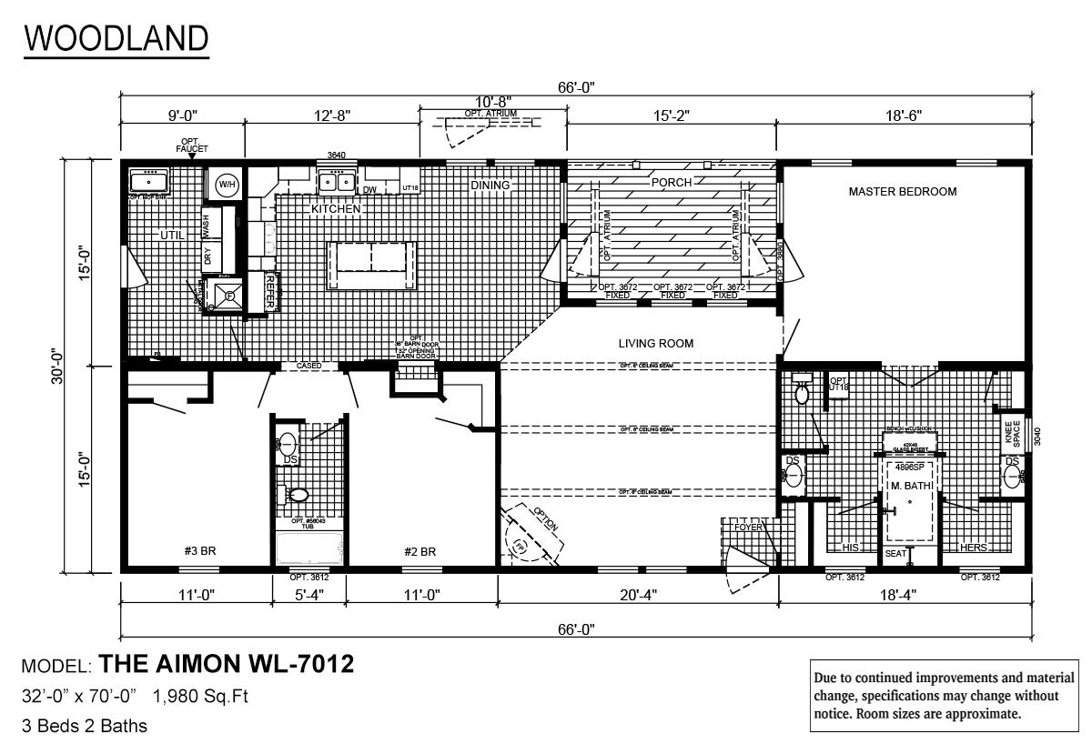 Woodland Series Aimon WL-7012 Layout