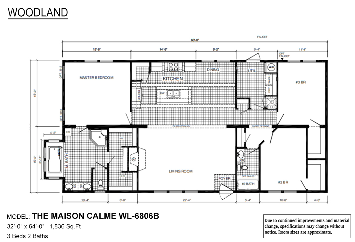 Woodland Series Maison Calme WL-6806B Layout