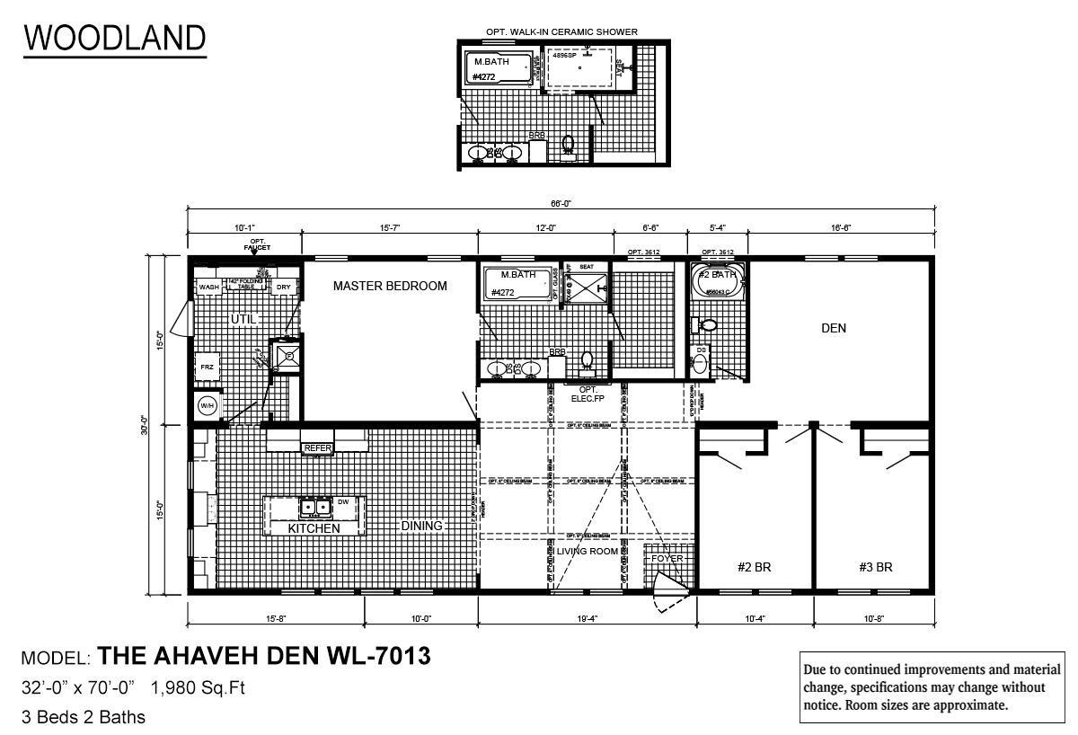 Woodland Series Ahaveh Den WL-7013 Layout