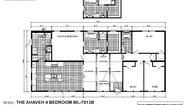 Woodland Series Ahaveh 4 Bedroom WL-7013B Layout
