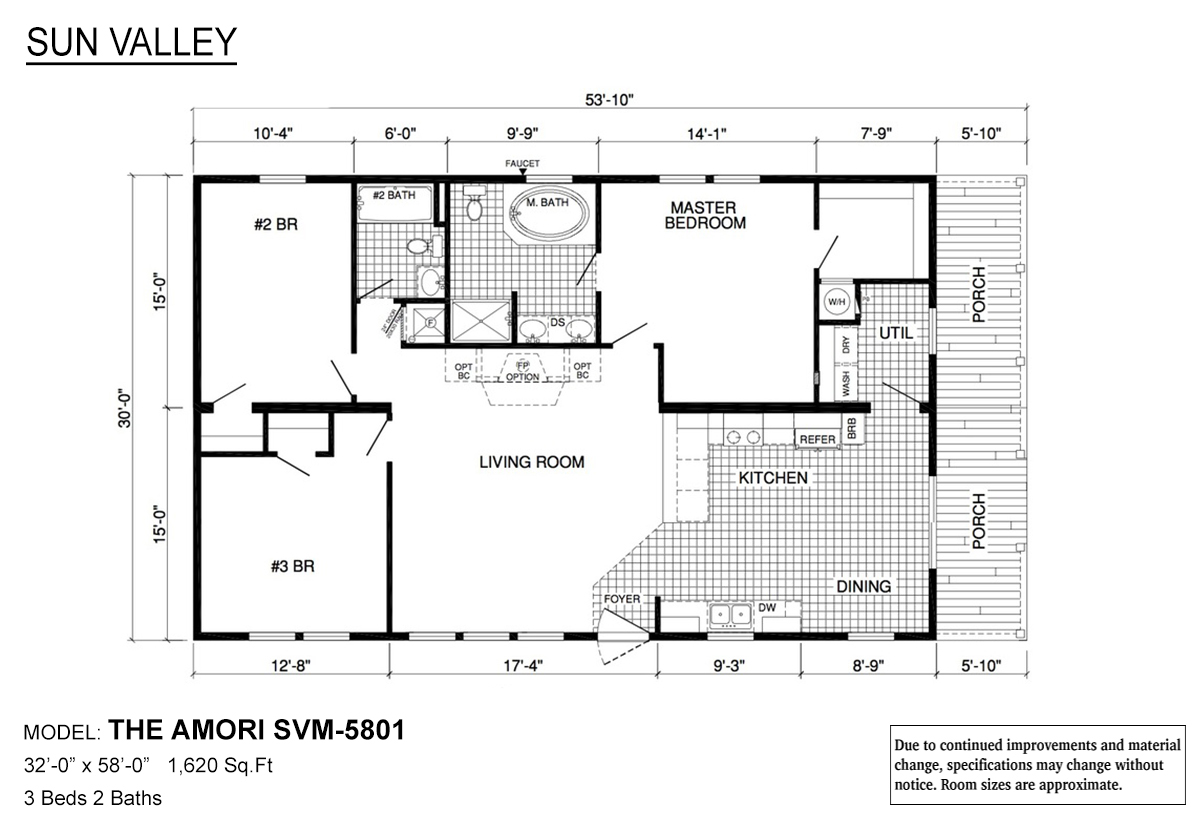 Sun Valley Series Amori SVM-5801 Layout