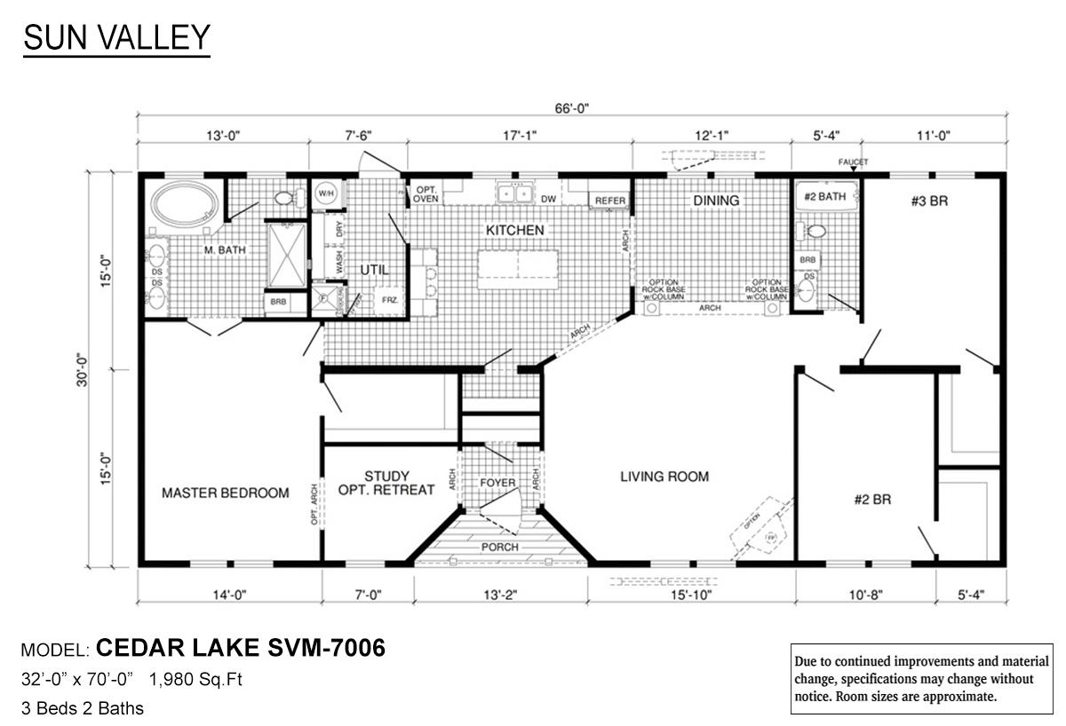 Sun Valley Series Cedar Lake SVM-7006 Layout