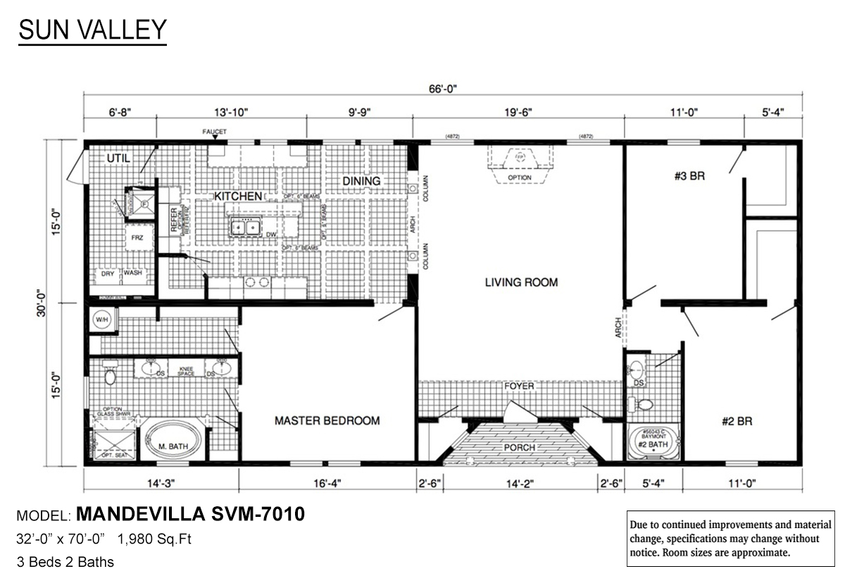 Sun Valley Series Mandevilla SVM-7010 Layout