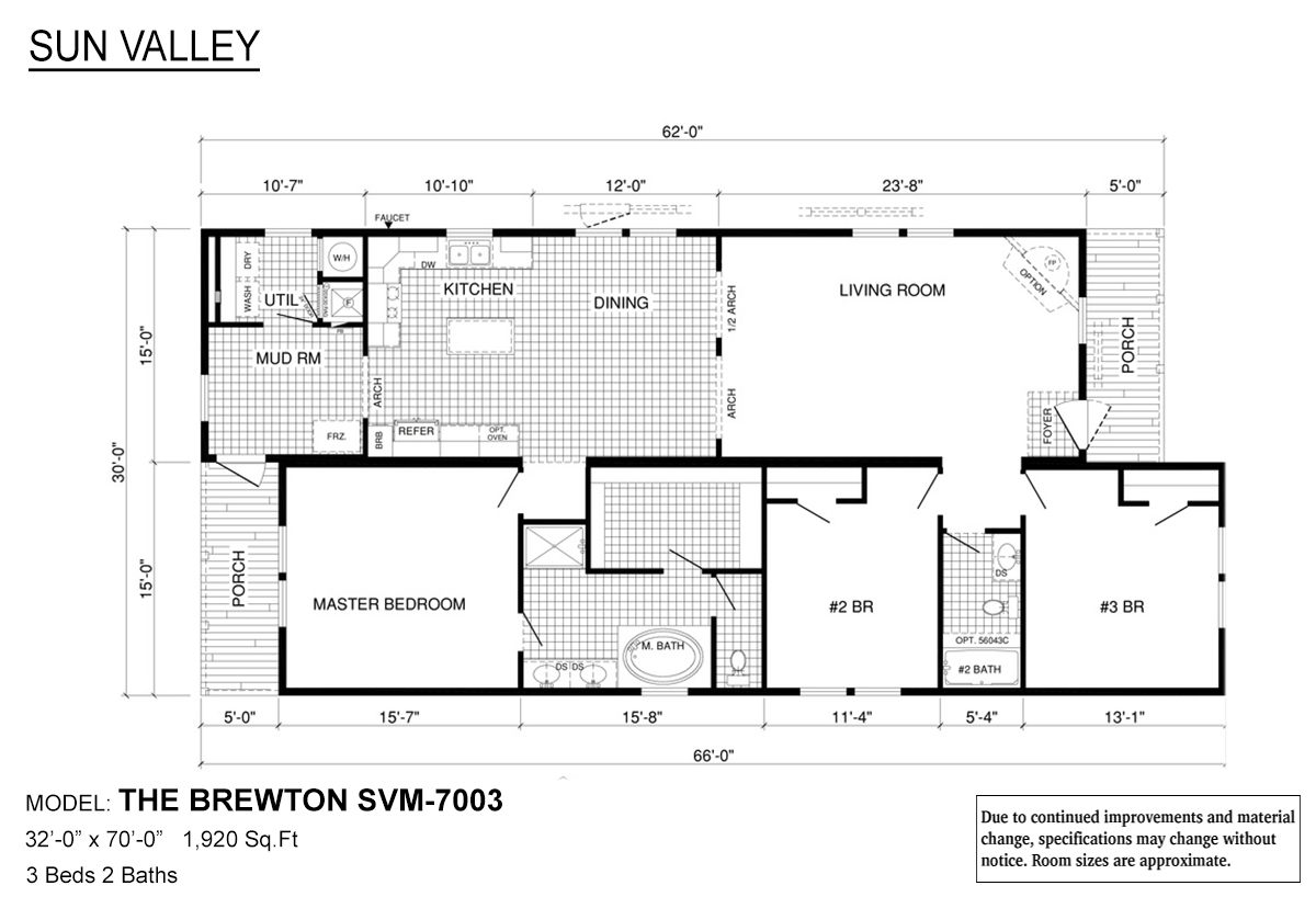 Sun Valley Series The Brewton SVM-7003 Layout