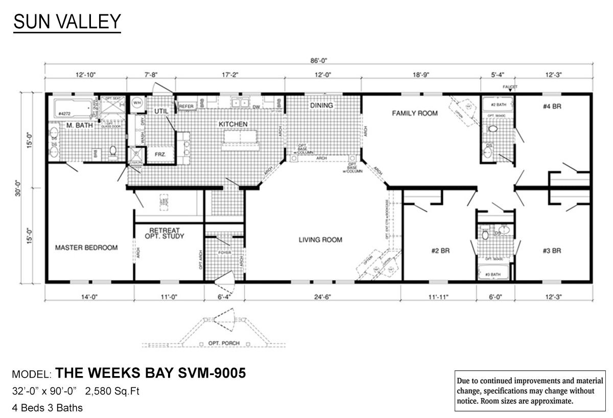 Sun Valley Series Weeks Bay SVM-9005 Layout