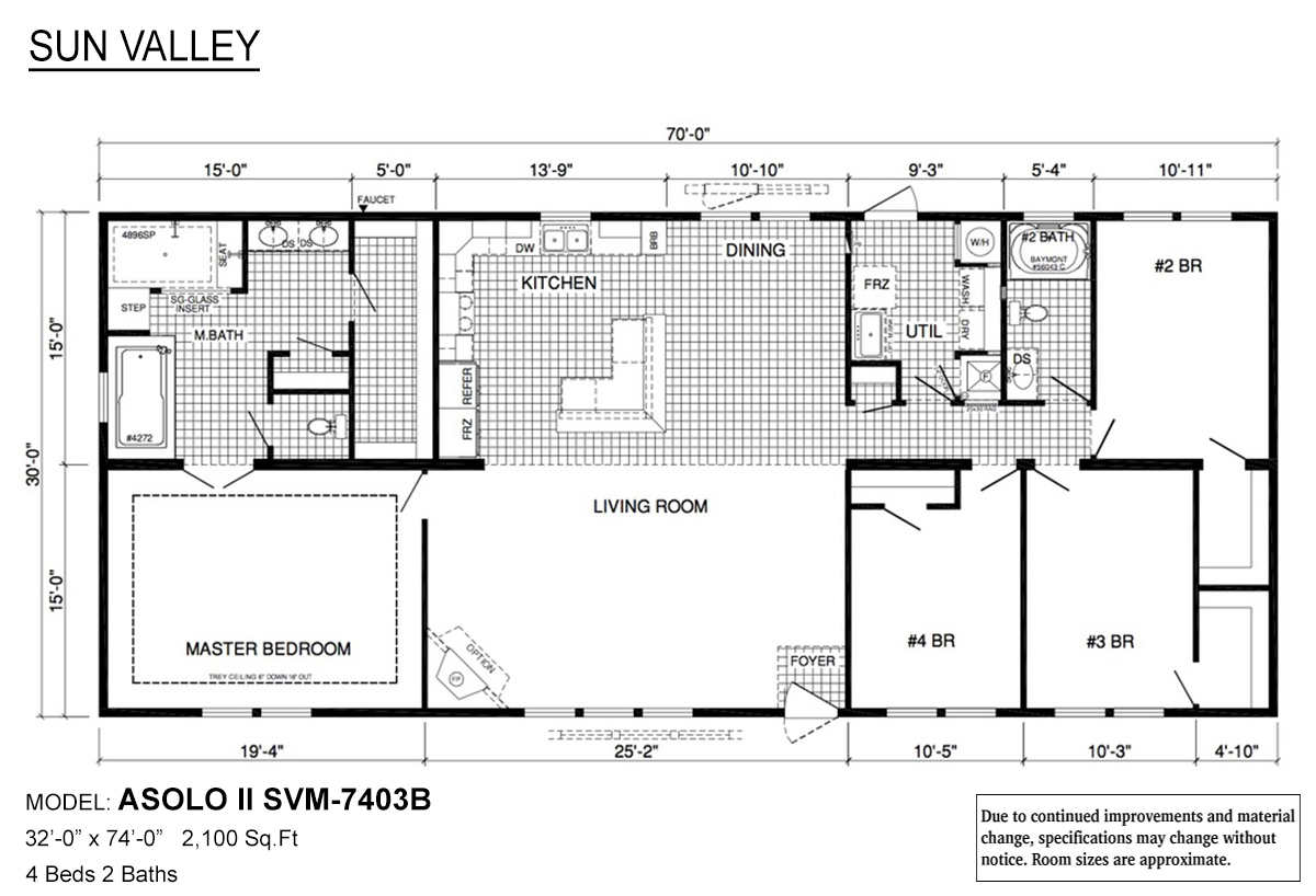 Sun Valley Series Asolo II SVM-7403B Layout