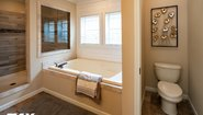Woodland Series The Adriel WL-7801 Corner ½ Rock Fireplace Bathroom