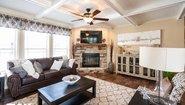 Woodland Series The Adriel WL-7801 Corner ½ Rock Fireplace Interior