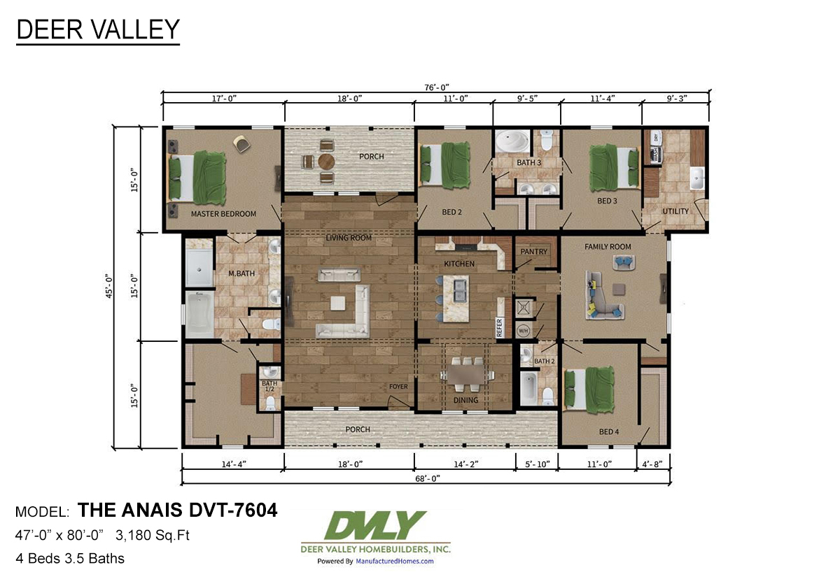 Deer Valley Series The Anais DVT-7604 Layout